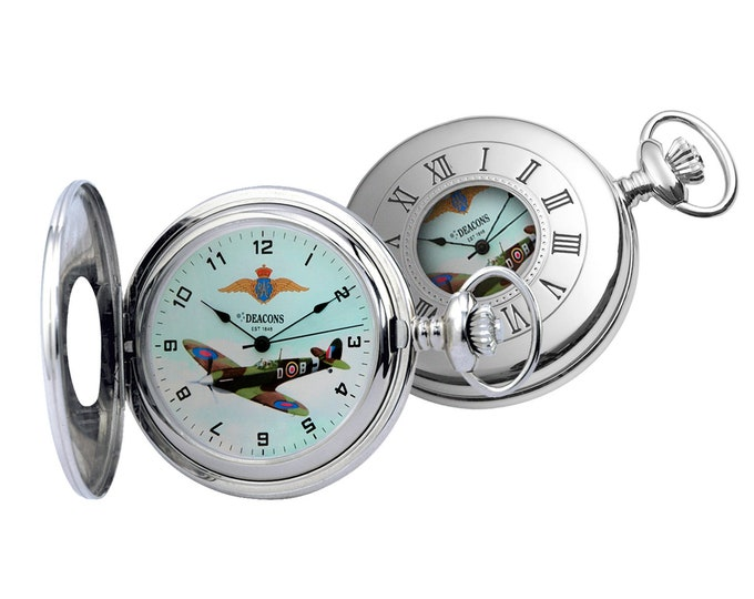 Supermarine Spitfire Mark V Mechanical Pocket Watch - Limited Edition- Engraved Message