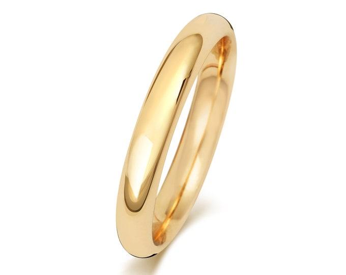 18ct Yellow Gold Plain Court Shape Wedding Ring UK Hallmarked Widths 2mm-6mm Sizes J-Z