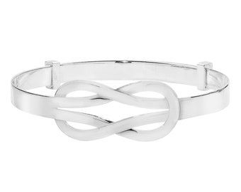 Celtic Knot 925 Sterling Silver Expandable Baby Bangle