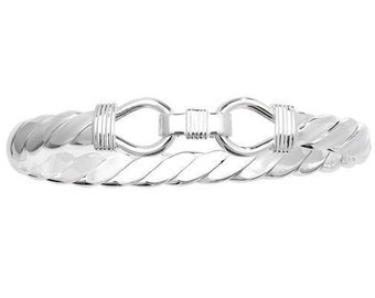 Men's Heavy 7mm Nautical Rope Bangle Hallmarked 925 Sterling Silver