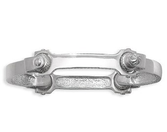 Men's 4 Piece Spanner Bangle Hallmarked 925 Sterling Silver
