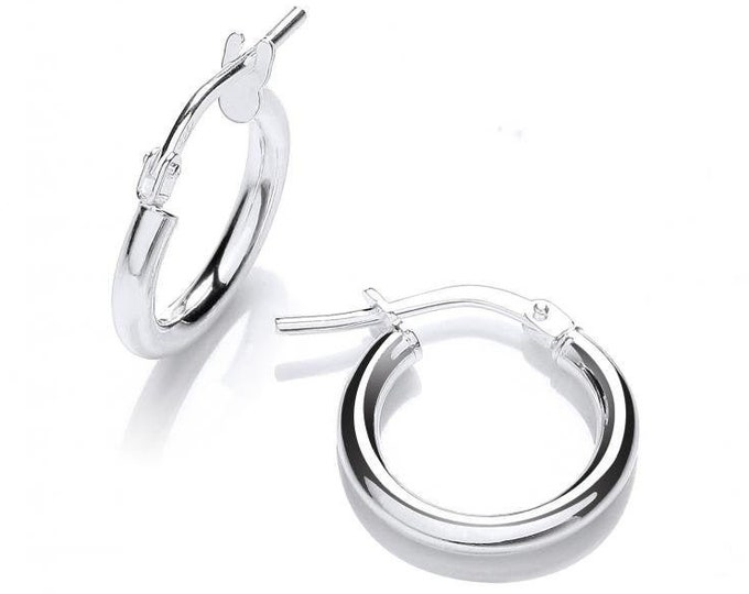 Essential 925 Sterling Silver 2mm Hollow Tube Hoop Earrings - choice of sizes