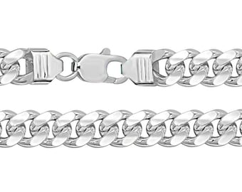 Sterling Silver 10mm Wide Chunky Cuban Curb Chain Hallmarked 925