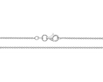 """925 Sterling Silver 17"""" Round Rolo Chain 2.2g"""