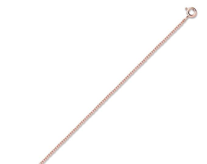 """Rose Gold Belcher Chain Medium Weight 9ct Chains 16"""" 18"""" 20"""" Hallmarked"""