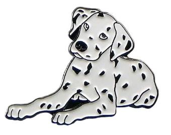 Dalmatian Puppy 30x22mm Metal & Enamel Lapel Pin Badge Gift Boxed