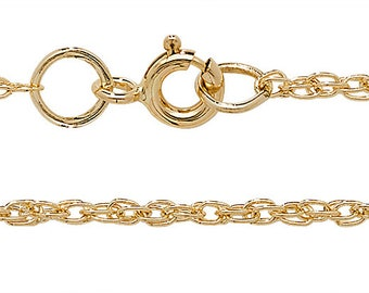"""9ct Yellow Gold Mediumweight Prince of Wales Chain 16"""" 18"""" 20"""" 22"""" 24"""" Hallmarked - Real 9K Gold"""