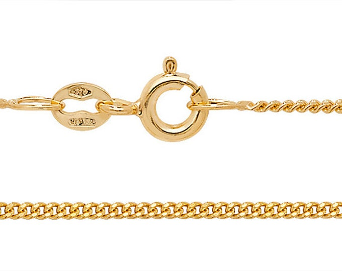 "Babies 14"" 9ct Yellow Gold Mediumweight Close Link Curb Chain Hallmarked"