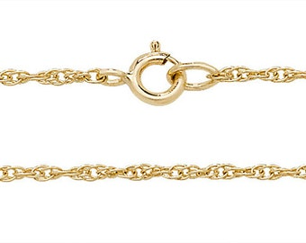 "Babies 14"" 9ct Yellow Gold Lightweight Prince of Wales Chain"