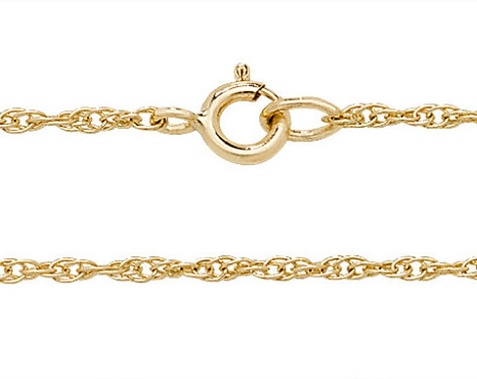 """Babies 14"""" 9ct Yellow Gold Lightweight Prince of Wales Chain"""