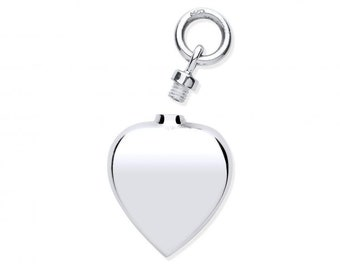 Ashes Memorial Heart Shaped 15mm Locket 925 Sterling Silver