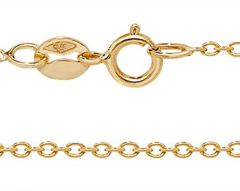 """9ct Yellow Gold Lightweight Rolo Chain 16"""" 18"""" 20"""" - Real 9K Gold"""