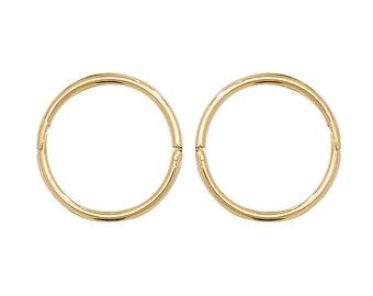 82e1c48cf64b5 Gold hinged hoops | Etsy