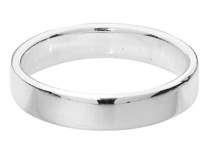 Plain Modern Soft Court Wedding Ring Widths 4mm-8mm 925 Sterling Silver Sizes M-Z