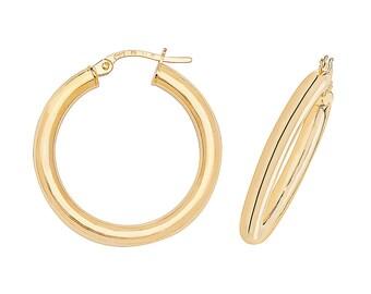 9ct Yellow Gold 2mmmTube Plain Hoop Earrings 8mm 10mm 15mm 20mm 25mm 30mm 35mm 50mm