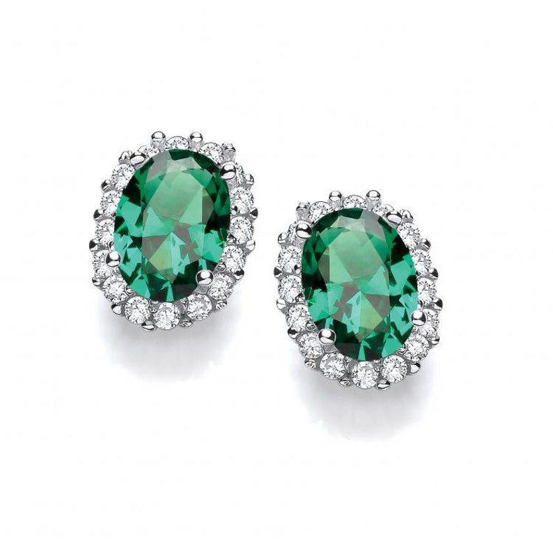 Beautiful CZ Pave Round Cluster Stud Screwback Earrings Sterling Silver Rhodium Plated