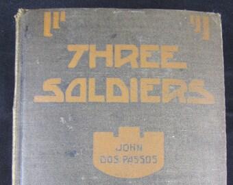 Three Soldiers //John Dos Passos  // 1921 First Edition Hardback