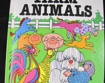 How to Draw Farm Animals // Vintage Hardback // 1984 // ISBN 0893757977