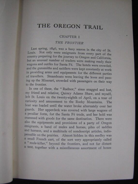 The Oregon Trail 1925 Hardback Francis Parkman Etsy
