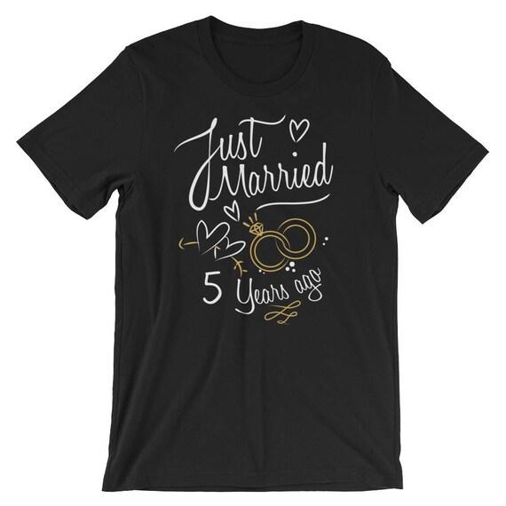 Hochzeitstag Geschenk Nur 5 Jahre Verheiratet Vor T Shirt