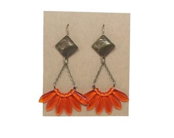 APACHE orange translucent earrings