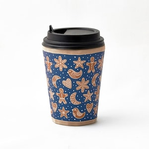 HANDMADE Cup sleeve for hot and cold drinks//Renaissance design coffee to go cup cozy//Reusable Starbucks coffee cup sleeve