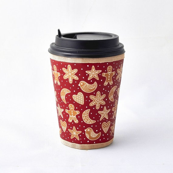 gingerbread coffee cup sleeve christmas cup cozy starbucks etsy