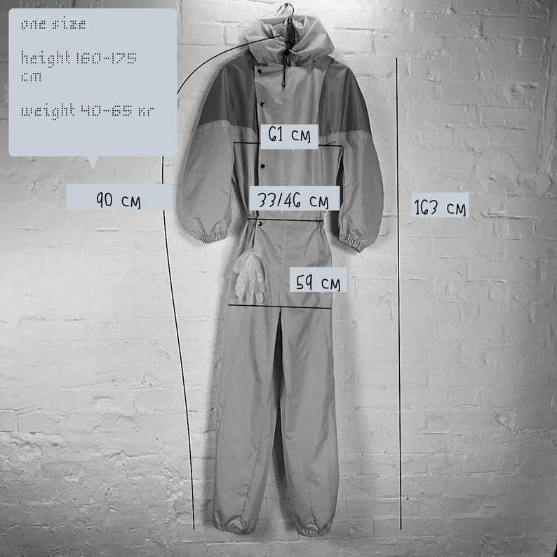 safety clothing reusable protective coverall coverall with hood hooded protective overalls unisex OVERSIZED front pockets Women romper