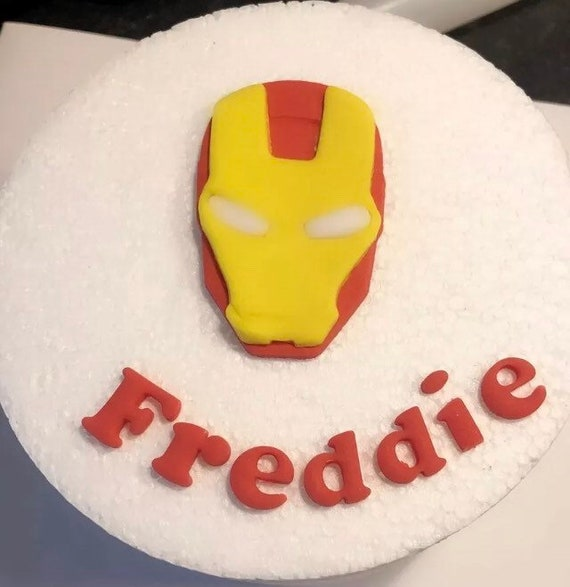 Magnificent Edible Sugar Ironman Personalised Cake Topper And Name Set For Etsy Funny Birthday Cards Online Inifodamsfinfo
