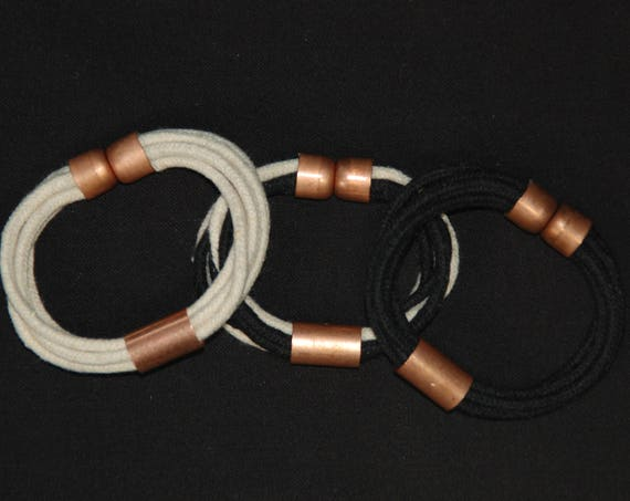 Rope Bracelet With Copper and Magnetic Clasp
