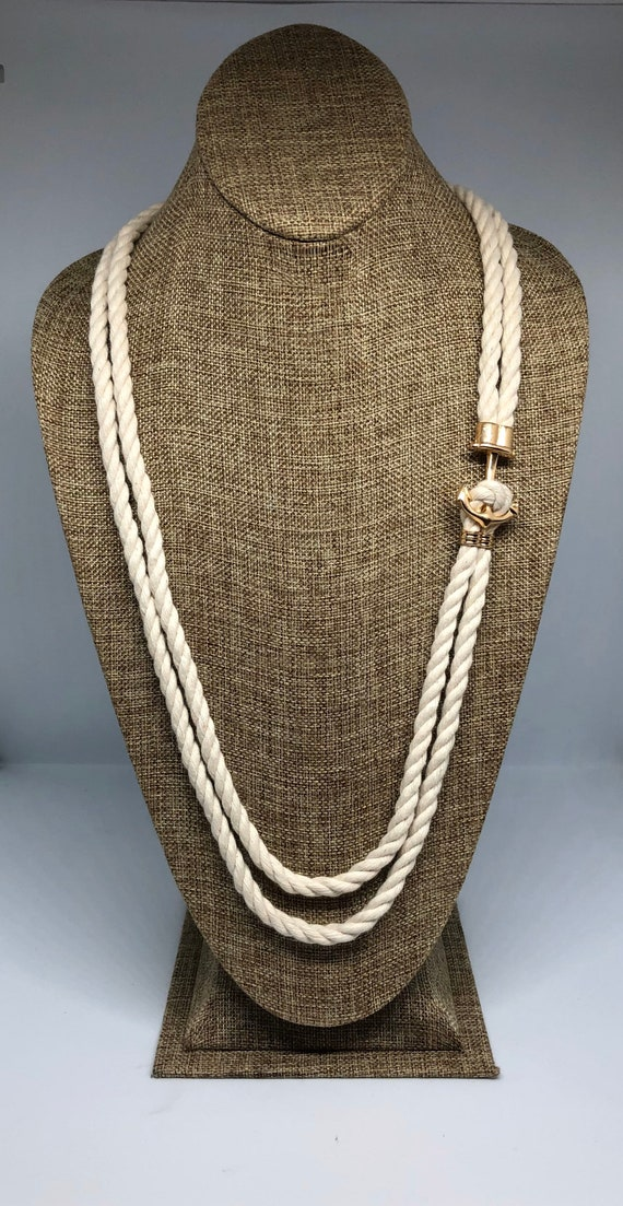 Simply Stated Rope Necklace with Anchor