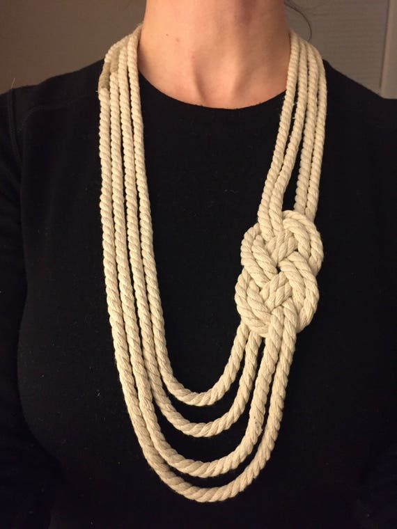 Knotted Carrick Necklace - With Tied Off Ends, Choose Your Color