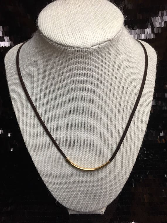 The Slim Rope Necklace in Leather