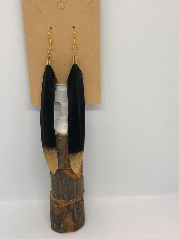 Long Feather Earrings - FREE SHIPPING
