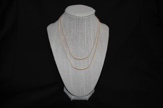 Layered Slim Necklace in Gold