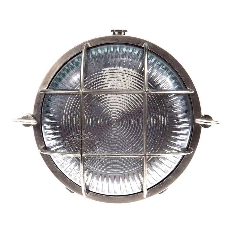 6e19563b5a8 Discus Brass bulkhead Round outdoor waterproof light Nautical
