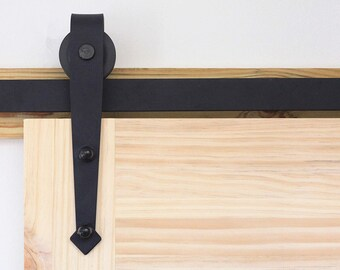 Double Bypass Sliding Barn Door Hardware Kit Single Interior Exterior Use 4  4.5 5 5.5 6 6.6 7 7.5 8 9 10 11 12 13 14 15 16 18 20 FT Track