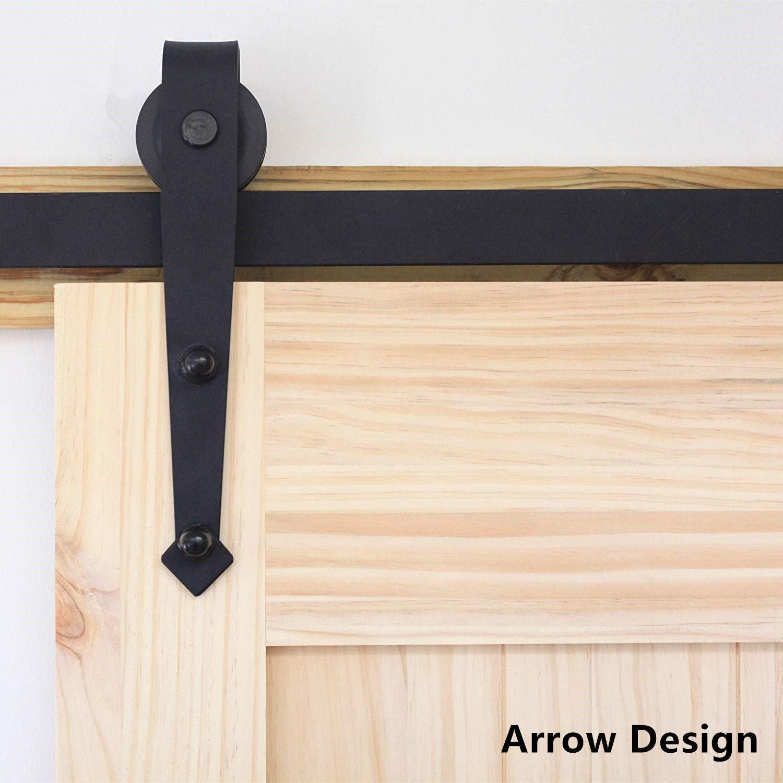 Double Bypass Sliding Barn Door Hardware Kit Single Interior Etsy