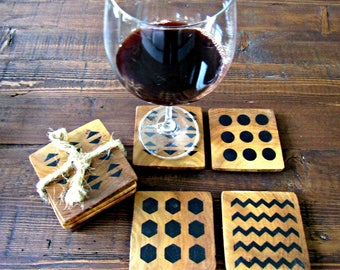 All Shapes Wooden Coasters Set