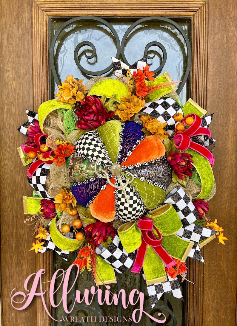 Fall Pumpkin Wreath Mark Roberts Elegant Pumpkin Wreath image 0