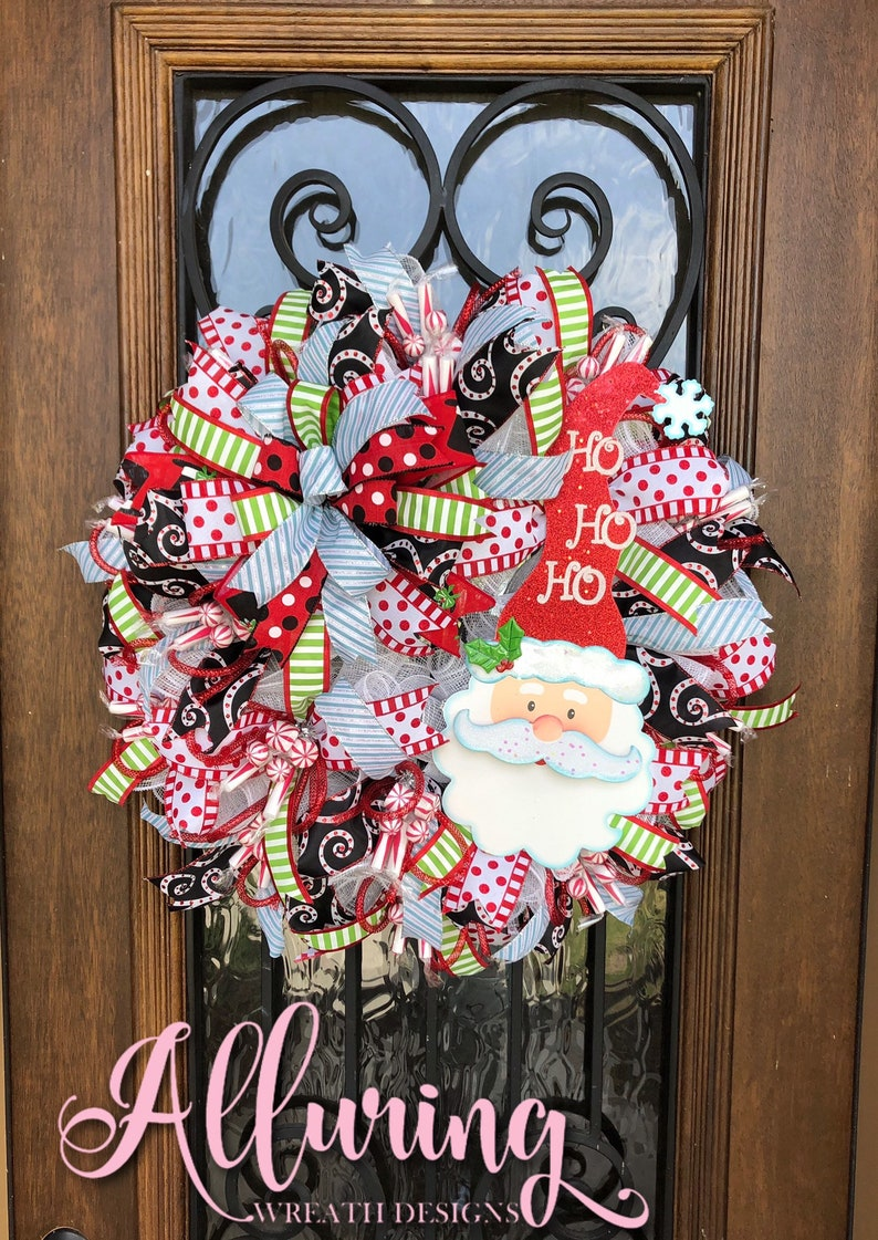 Christmas Santa Claus Wreath for Front Door image 0