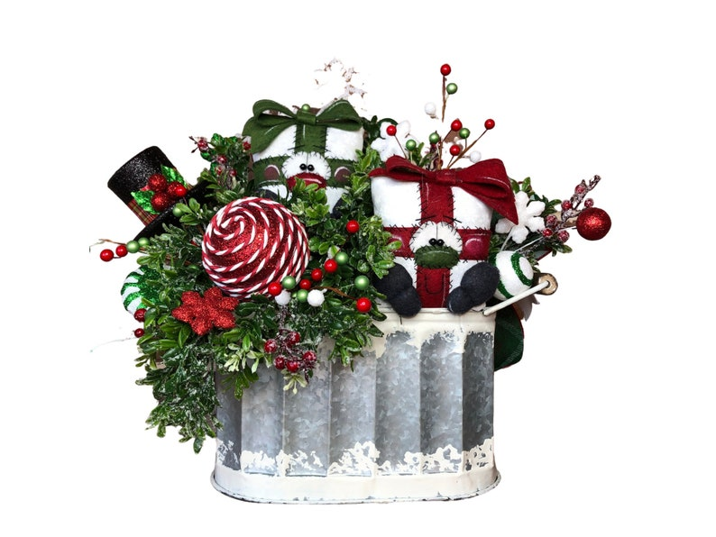 Christmas Centerpiece with Primitive Plush Gifts for Table image 0