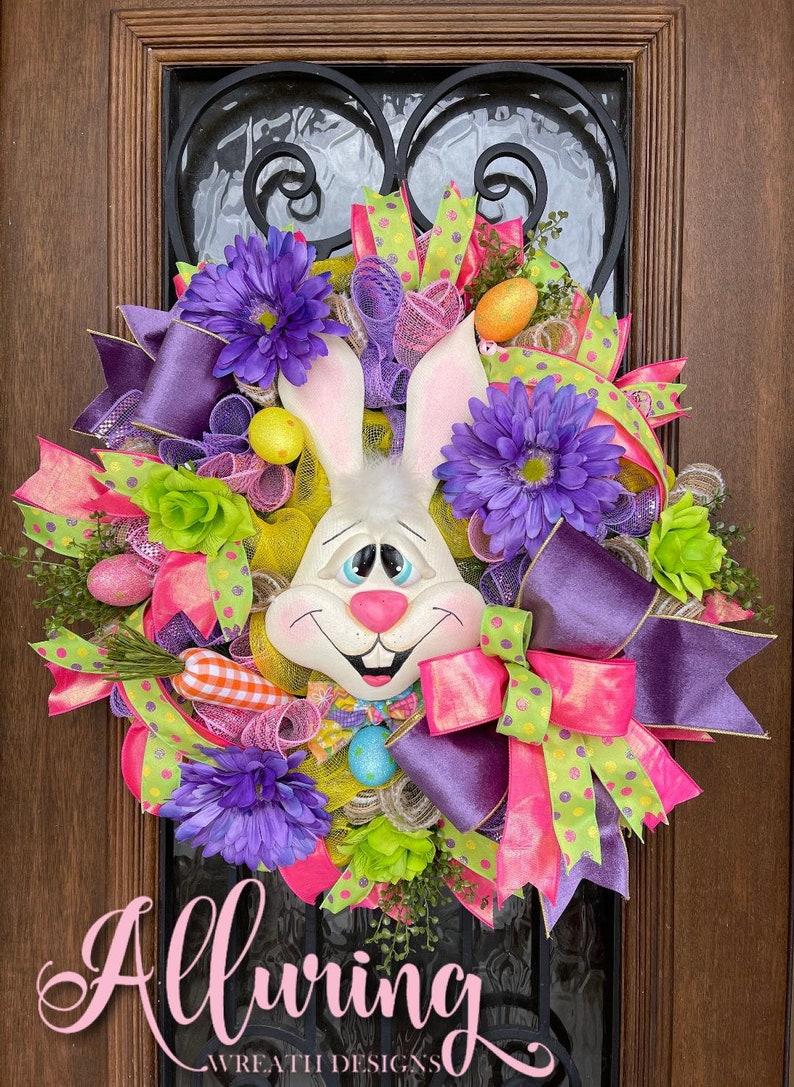 Easter Bunny Wreath for Front Door image 0