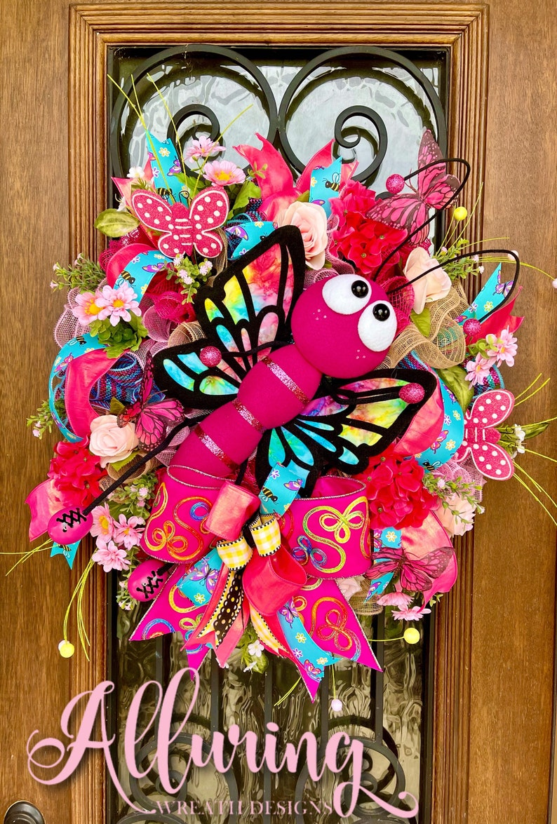 Butterfly Wreath for Summertime Front Door Decor image 0