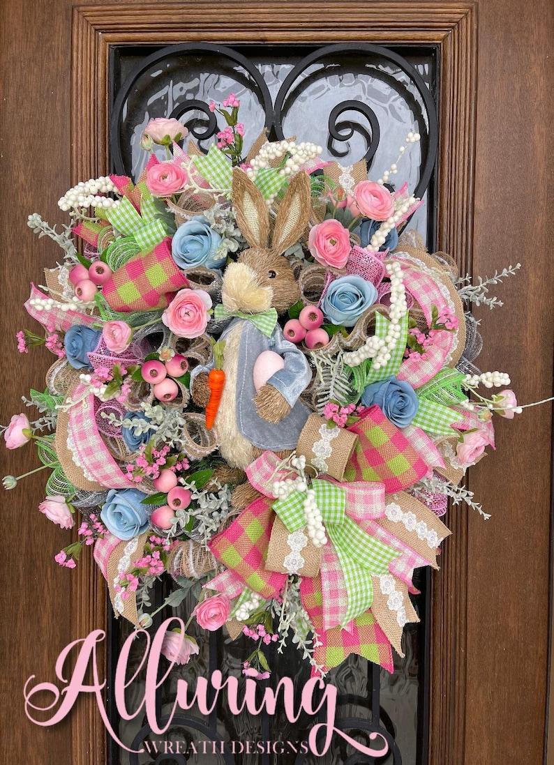 Sisal Easter Bunny Wreath for Front Door image 0
