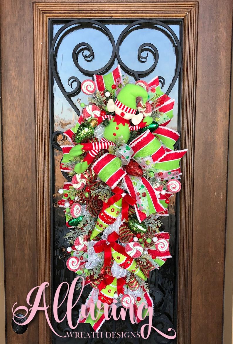 Christmas Elf Swag for Front Door image 0