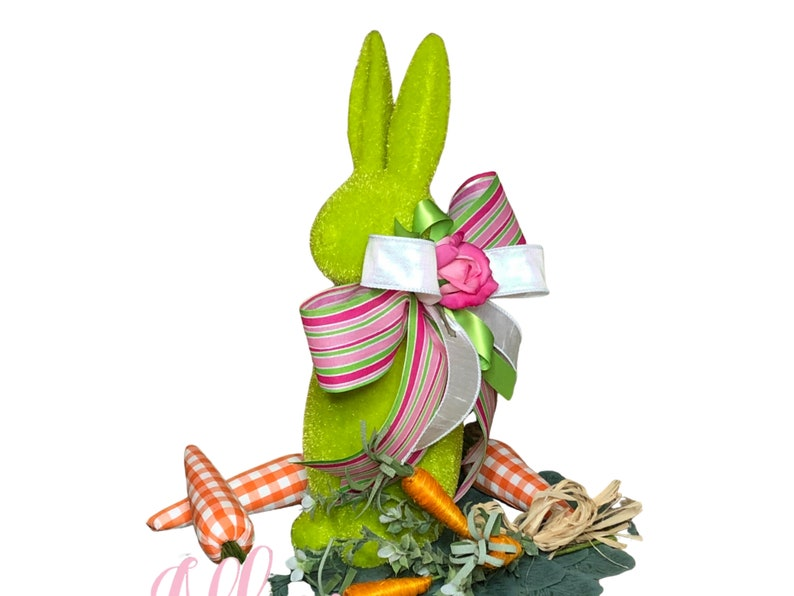 Easter Bunny Centerpiece in Green for Table image 0