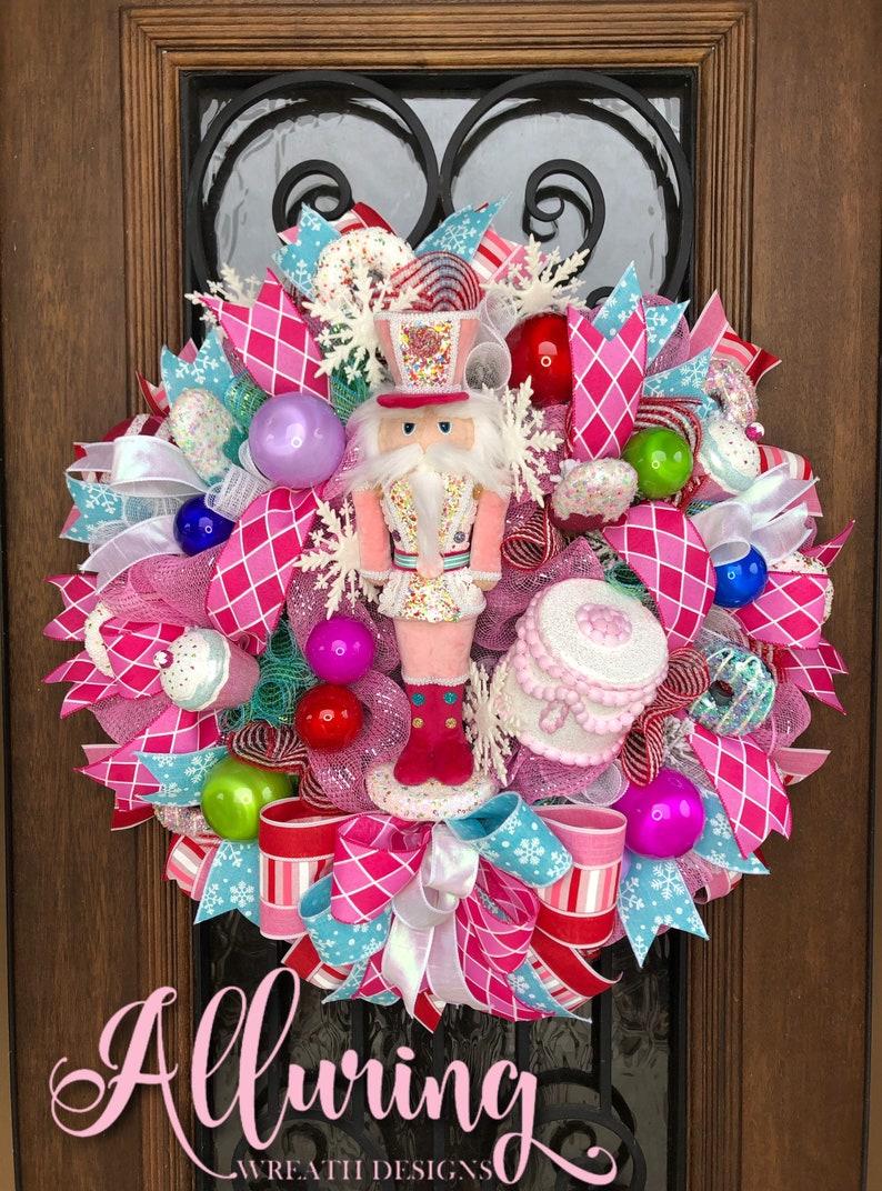 Christmas Nutcracker Wreath Door Hanger image 0