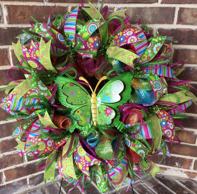 Butterfly Wreath for Spring Front Door image 0