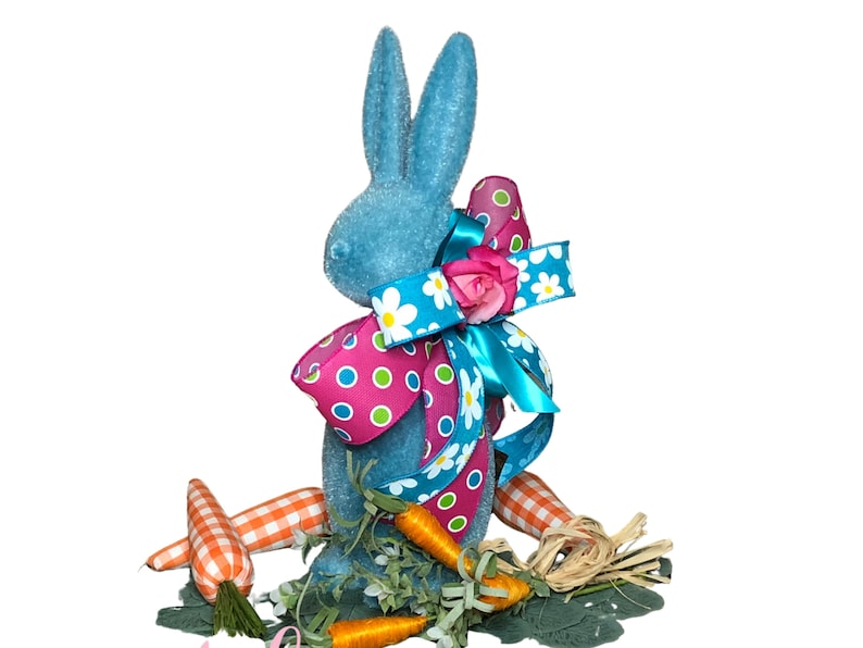 Easter Bunny Centerpiece in Blue for Table image 0